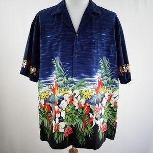 Pacific Legend Hawaiian Tropical Parrots Shirt